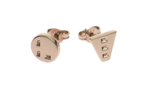 Tough Love Earrings (pair), Rose Gold
