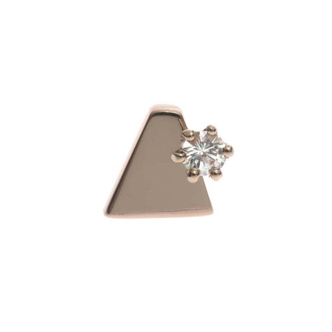 Aztec Stone Earring (single), Rose Gold