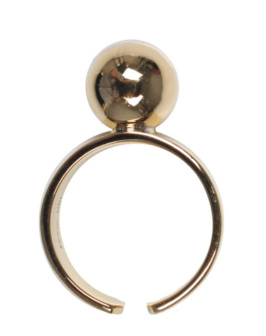 Large Sphere Ring, Gold