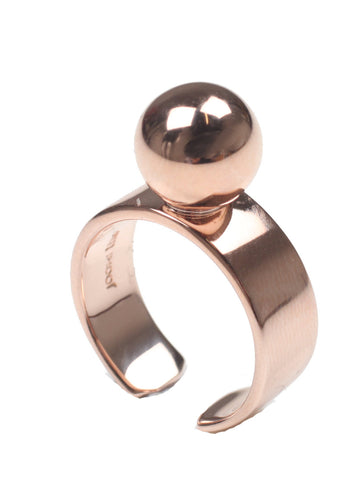 Large Sphere Ring, Rosegold