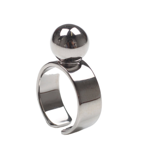 Large Sphere Ring, Ruthenium