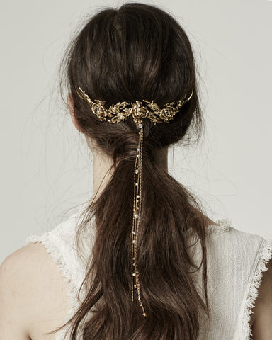 Flora Metal Headband, Gold