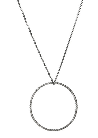 Lennox Necklace, Oxidized Silver