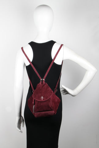 Fernweh Backpack Suede, Burgundy