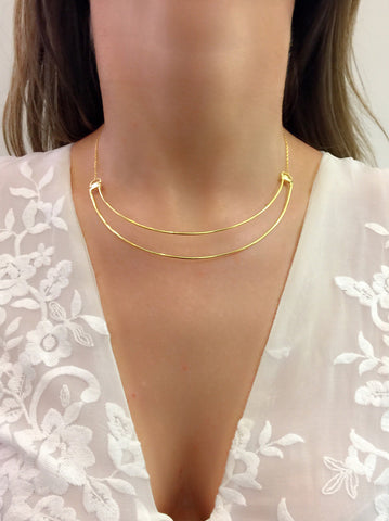 Love Bite Necklace - High Polished Gold