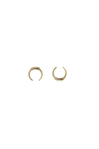 Tusk Stud Earrings, Gold