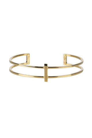 Row Bracelet, High Polished Gold