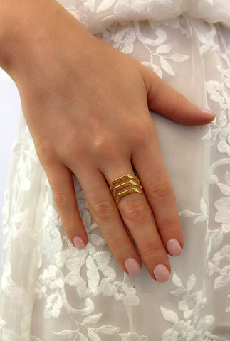 Triad Ring, Gold