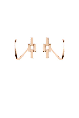 Aurore Twirl Earring, Rose Gold