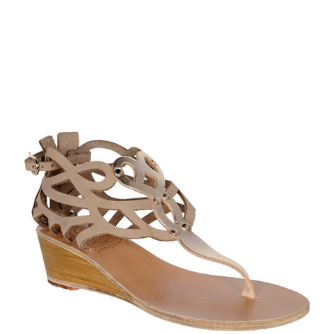 Medea Wedge, Taupe/Platinum