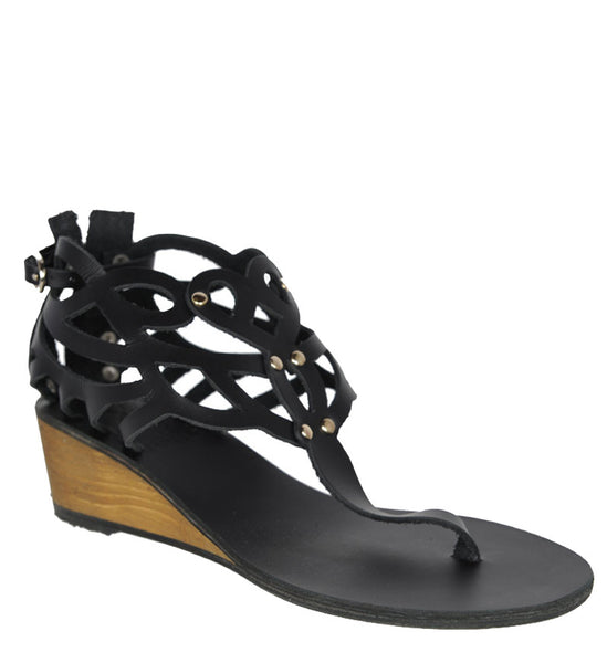 Medea Wedge, Black by Ancient Greek Sandals Cultstatus