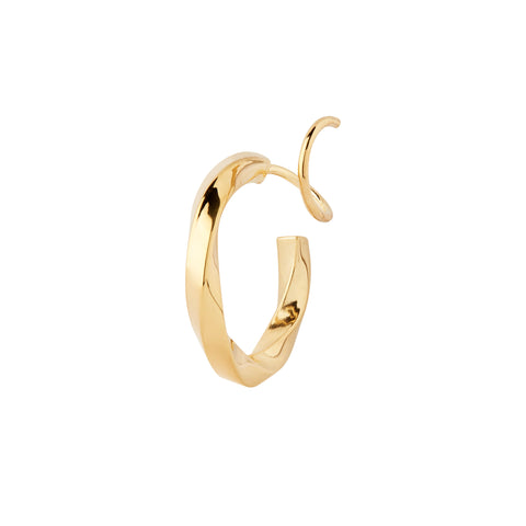 Marcelle Twirl Earring, Gold High Polished