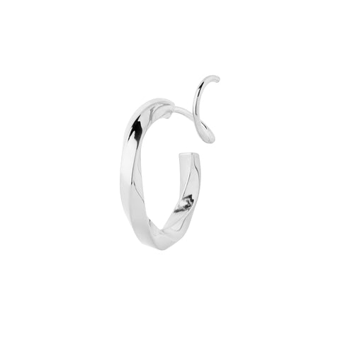 Marcelle Twirl Earring, Silver High Polished