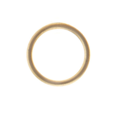 Mono Circle Earring, Matte Gold