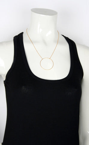 Monocle Necklace, Matte Gold