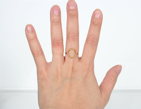 Monocle Ring - Gold