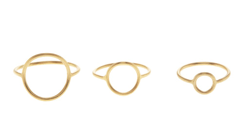 Monocle Ring, Matte Gold