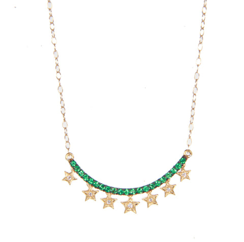Starry Green Rain Necklace