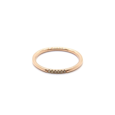 Six Stone Queenie 14k Rose Gold, Champagne Diamonds