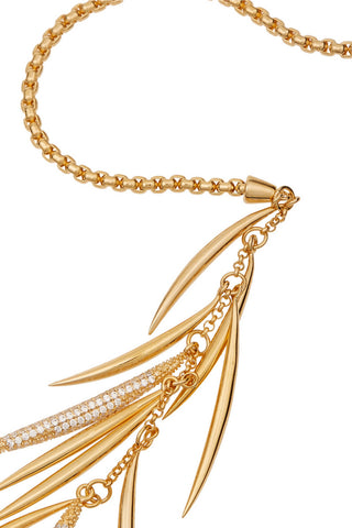 Pave Prickle Lariat, Gold