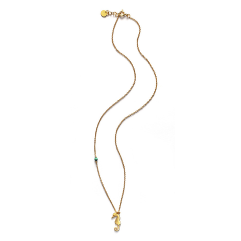 Seahorse Necklace, Gold