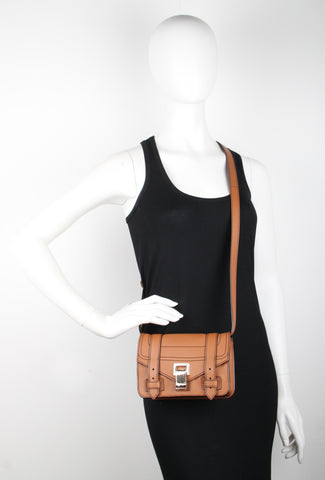 PS1+ Mini Crossbody Grainy Calf, Sienna