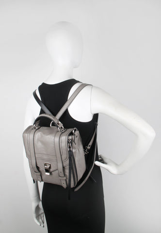 PS1+ Zip Backpack Paper Leather, Taupe