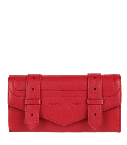 PS1 Continental Flap Wallet, Ruby