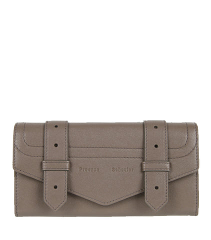 PS1 Continental Flap Wallet, Smoke