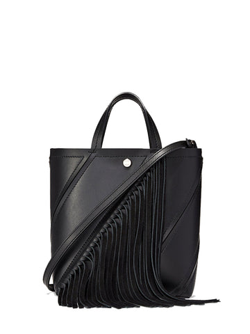 PS Small Hex Tote Fringe, Black
