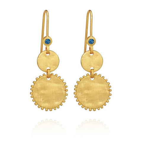 Petra Coin Earring, Gold