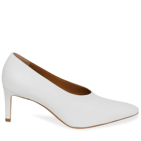 Pointy 65 Heel Lamb, White