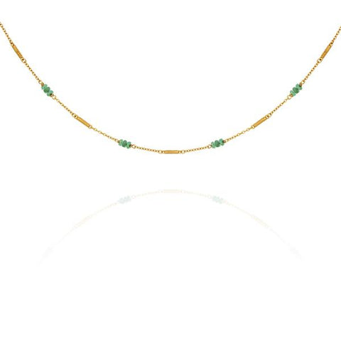 Quinn Emerald Necklace, Gold