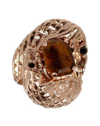 Tiger Eye Serpent Ring