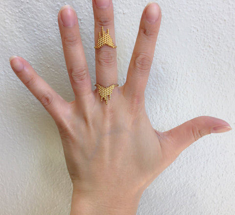 Cascade Ring, Matte Gold