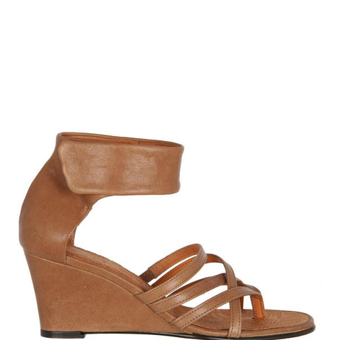 Romera Leather Wedge, Sand