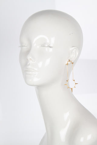 Ri Earrings, Gold