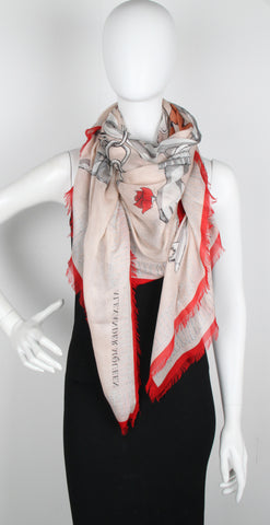 Charms Chunky Scarf Pashmina, Rose Red