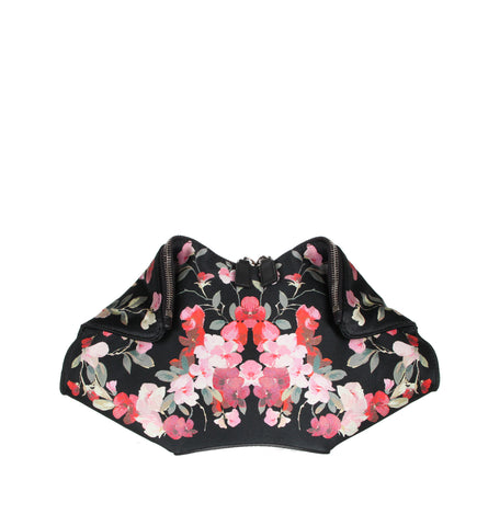 De Manta Clutch Small, Floral Satin