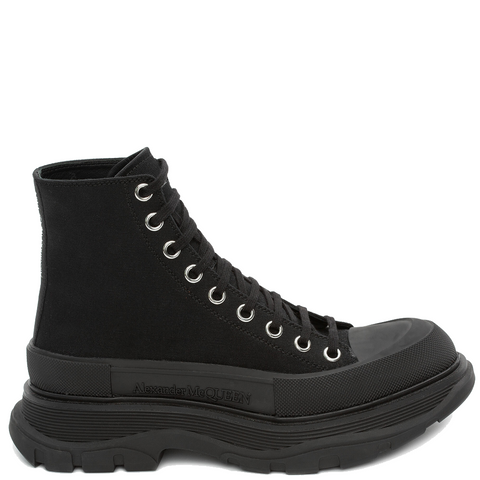 Tread Canvas Boots, Black/Silver