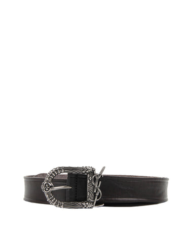 SL Western Logo Belt Vegetal, Black