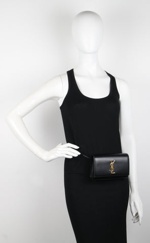 Kate Belt Bag, Black/Gold