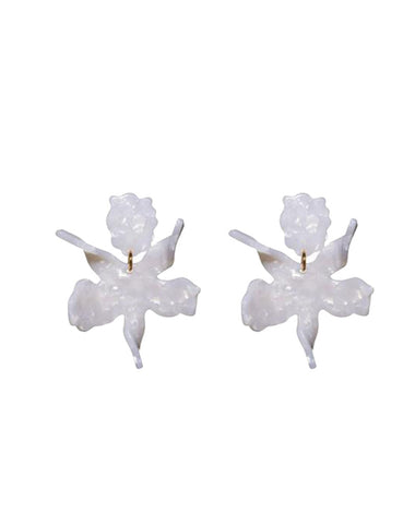 Small Lily Earrings, Mother of Pearl