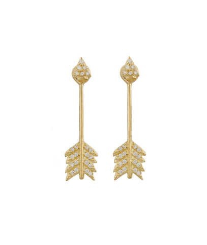 Shooting Arrow Earring, Antique Gold