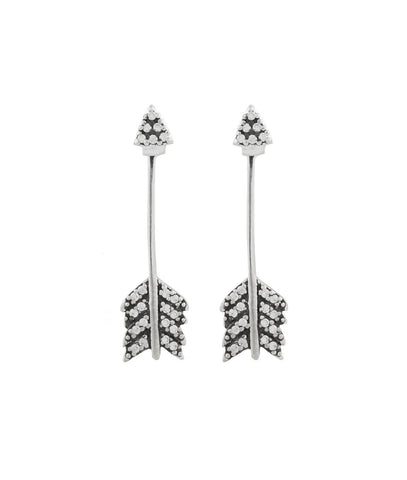 Shooting Arrow Earring, Silver