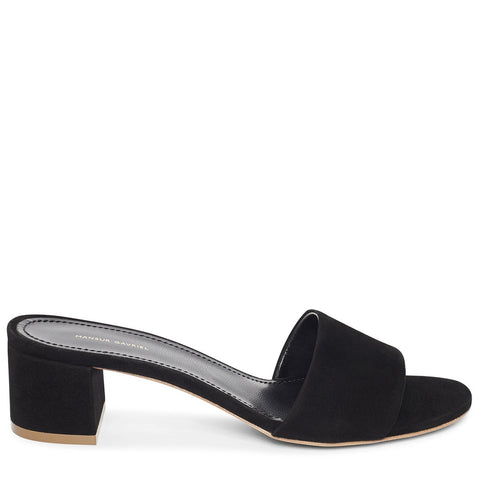 Single Strap Sandal 40 Suede, Black
