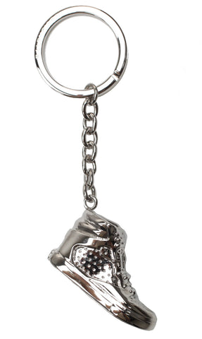 Metal Key Ring, Sneaker Silver