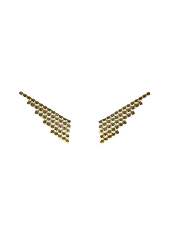 Snow Earring, Gold