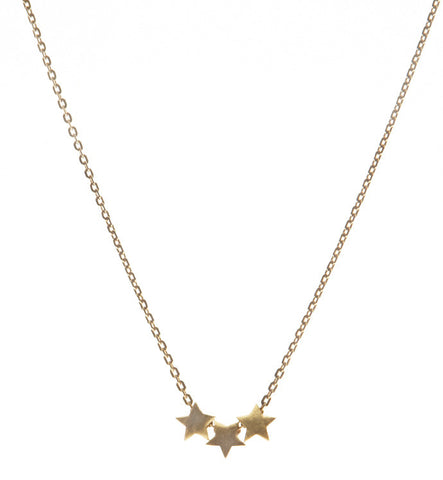 Star Necklace, Matte Gold