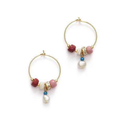 Sun Dance Hoops (pair), Very Berry